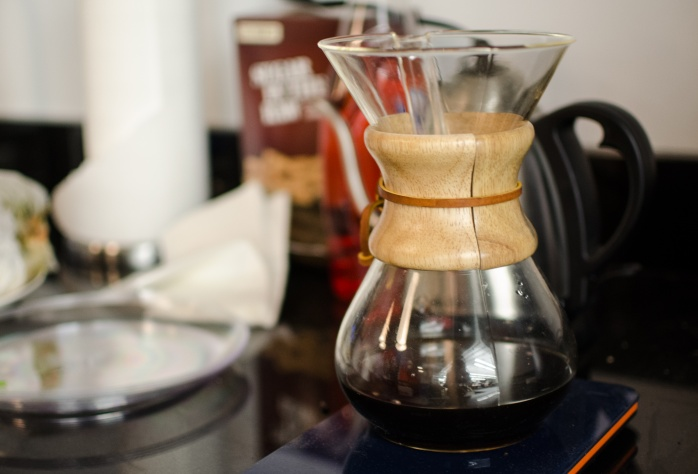 Yes, more coffee, this time a Chemex glass coffeemaker