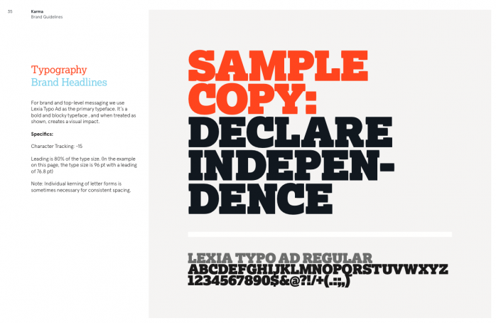 Page 35 from the guide: Typography