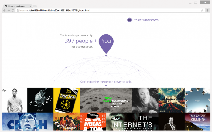BitTorrent's Project Maelstrom browser
