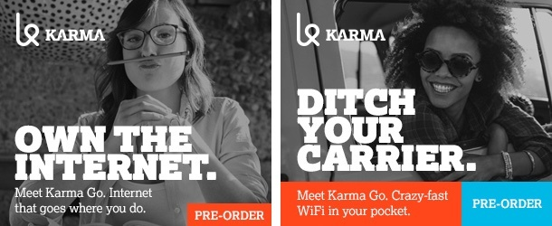 Karma Go display ads